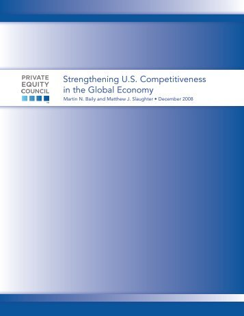 Strengthening U.S. Competitiveness in the Global Economy