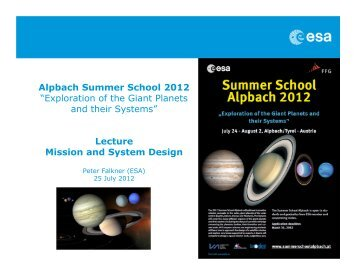Download - Summer School Alpbach 2013