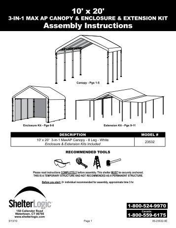 shelterlogic garage in a box instructions