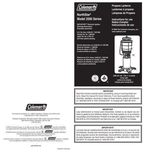 2500 Series - Northstar Propane Lantern - Coleman