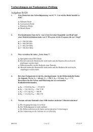 Vorbereitungen zur Funkamateur-Prüfung Aufgaben B.020 - HB9THJ