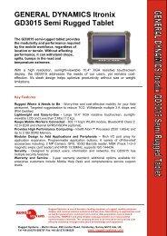 GENERAL DYNAMICS Itronix GD3015 Semi ... - Rugged Systems