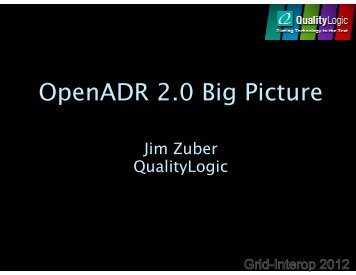 OpenADR 2.0 Big Picture