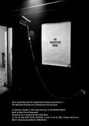 Die 6. Berlin Biennale für zeitgenössische Kunst ... - CAC Brétigny