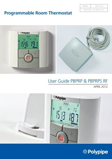 Rematic Rf Mechanical Thermostat And Timer User Instructions
