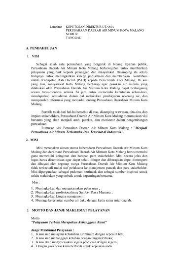 PDAM - Pemerintah Kota Malang