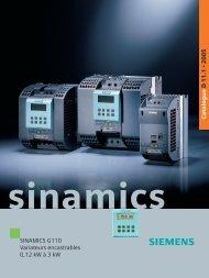 Catalogue Siemens Sinamics G110 (remplace le ... - MIDI Bobinage