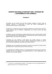 CHARTE NATIONALE PORTANT SUR L'ETHIQUE DE L ...