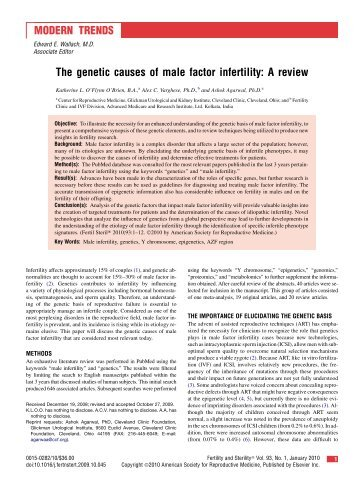 infertility research paper