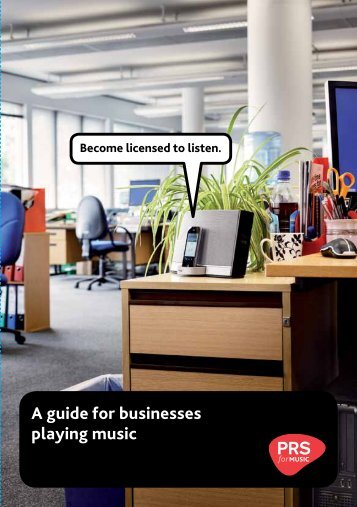 A guide for businesses playing music - PRS