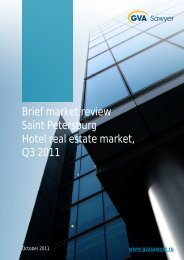 Hotel real estate market, St. Petersburg, 3Q2011 - GVA Sawyer