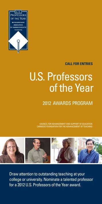 U.s. Professors of the Year - US Professor of the Year Awards