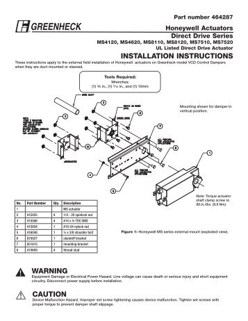 Afbup. Ms4120 Ms4620 Ms8120 Ms7520 Series 464287 Greenheck. Wiring. Honeywell Ms7520 Actuator Wiring Diagram At Scoala.co