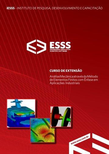 curso de extensão Análise Mecânica através do Método de ... - ESSS