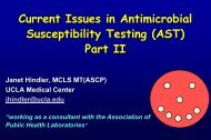 Current Issues in Antimicrobial Susceptibility Testing