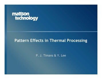 Pattern Effects in Thermal Processing - Avsusergroups.org