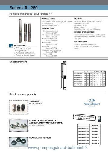 Catalogue pompes forage GUINARD SATURN ... - MIDI Bobinage