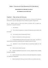 Edital – Concurso da Corte Momesca 2012 (Rei Momo) Capítulo I ...