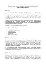 öwav - seminar methoden der hydrologischen regionalisierung