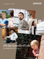 All the Sounds of Life - Sonova