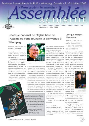 Assemblée – Actualité No. 3 - LWF Tenth Assembly 2003