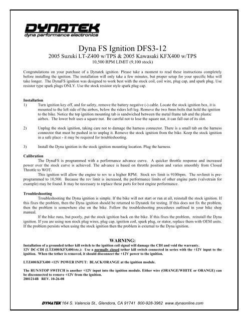 LTZ400 Dyna FS Ignition (Value)
