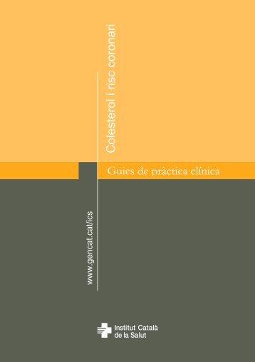 Guies de pràctica clínica Colesterol i risc coronari - Generalitat de ...