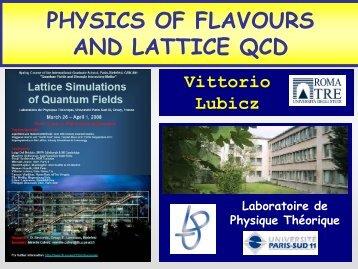 Particle physics phenomenology and LQCD - Laboratoire de ...