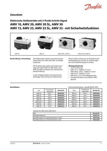 AMV 10, AMV 20, AMV 20 SL, AMV 30 AMV 13, AMV 23, AMV 23 SL ...