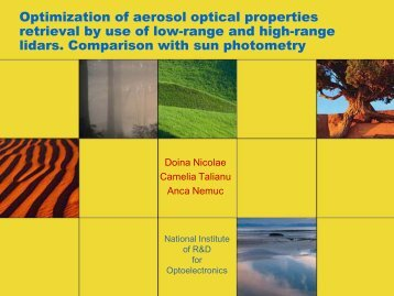 Optimization of aerosol optical properties retrieval by use of low ...
