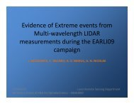 Evidence of Extreme events from Multi-wavelength LIDAR ...