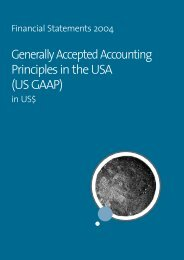 Generally Accepted Accounting Principles in the USA (US GAAP)