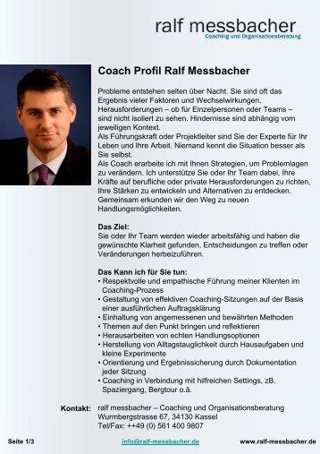 Profil Ralf Messbacher