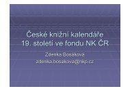 České knižní kalendáře 19. století ve fondu NK ČR