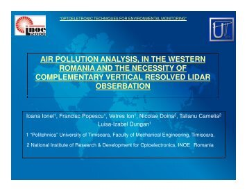 air pollution analysis, in the western romania and the necessity of ...