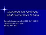 Counseling and Parenting - Fluency Friday Plus