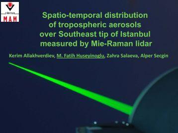 Spatio-temporal distribution of tropospheric aerosols over Southeast ...