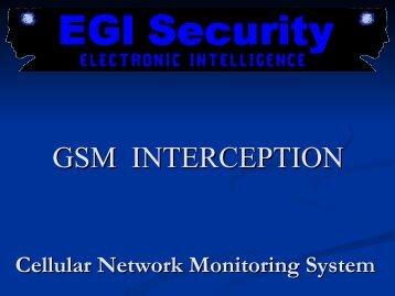 GSM INTERCEPTION - EGI Security