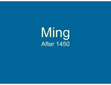Ming and Manchu