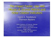 The Impact Factor: Use and Misuse of Journal Metrics and Other ...