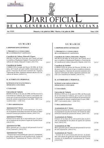 pdf 731KB - Diari Oficial de la Comunitat Valenciana - Generalitat ...