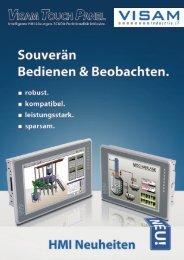 VTP-UC – Open-Frame Bediengeräte - VISAM GmbH