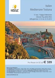 Italien Mediterrane Toskana - World of Travel