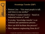 Knowledge Transfers, Knowledge Exchanges and Flows