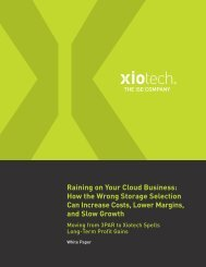 Raining on Your Cloud Business: How the Wrong Storage ... - Bitpipe