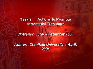 June – December 2001 Author: Cranfield University 1 April, 2001