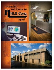 Waterjet Solutions Set NLB Apart - NLB Corporation
