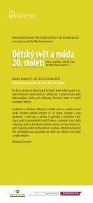 Dětský svět a móda 20. století - Středočeské muzeum v Roztokách u ... - Page 2
