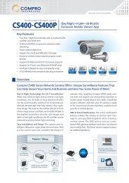 Network Camera datasheet CS400 CS400P - Compro