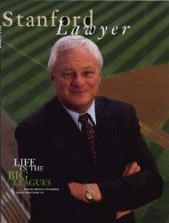 Summer 2000 – Issue 58 - Stanford Lawyer - Stanford University